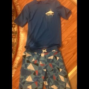 Swimming trunks and shirt (SPF 50) for boys